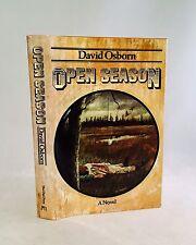 Open Season-David Osborn-First/1st Edition/2nd Printing-1974-Basis For Film-RARE
