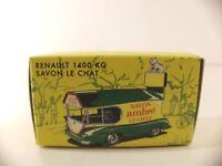 CIJ - réédition Norev - 5/02/00 boite vide Renault 1400kg Savon Le Chat