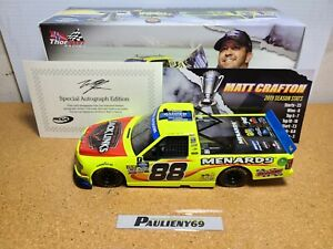 2019 Matt Crafton #88 Menards Champion Autograph Ford 1:24 NASCAR Action MIB