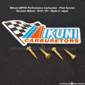 Mikuni 44PHH Perf Carb Pilot Screw N101.181 4pc Datsun 510 2000 620 Toyota Solex