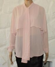 Cream Fabric ASOS Button Long Sleeve Casual Party Top Shirt Blouse Size 8 / 36