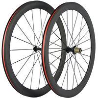 Race Bicycle Front&Rear Wheelset 50mm Clincher Carbon Wheels Road Bike Wheel