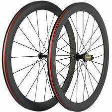 Race Bicycle Front&Rear Wheelset 50mm Clincher Carbon Wheels Road Bike Wheel