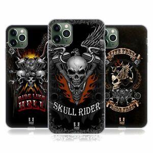 HEAD CASE DESIGNS SKULL BIKERS SOFT GEL CASE & WALLPAPER FOR APPLE iPHONE PHONES