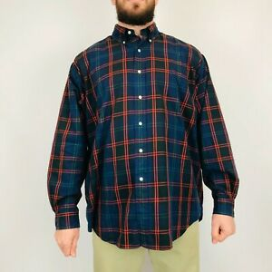 Vintage Ralph Lauren Checked Blake Shirt XL Long Sleeve 100% Cotton