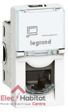Prise RJ45 FTP 1 module catégorie 6 Mosaic blanc Legrand 76562