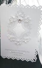 LARGE  WEDDING DAY ANNIVERSARY CONGRATULATIONS CARD HANDMADE PERSONALISED