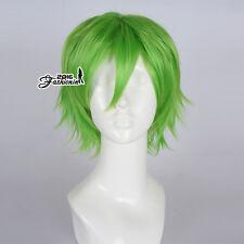 30CM Green Fancy Short Straight Basic Men Party Heat Resistant Cosplay Hair Wig