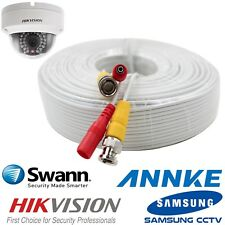 3M White BNC DC CCTV Security Video Camera DVR Record Data Hikvision Power Cable