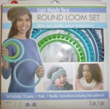 Light Weight Round Loom Set Makes Hats, Booties, Scarves and more 3702102001