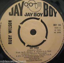 "RUBY WILSON - Sky High / A Man & A Baby Boy ~ 7"" Single PROMO"