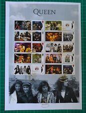 More details for 2020 queen album covers collectors smiler sheet fdc knebworth fdi pl postmark