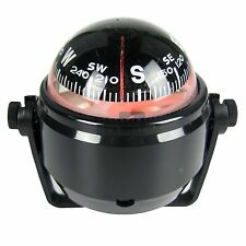 Marine LED Navigation Compass for Sail Ship Vehicle Car Boat Black Electronic