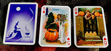 Fortune Telling Gypsy Witch Swap Cards 3 Halloween Trading Cards Lady Children