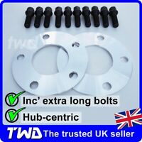 5MM ALLOY WHEEL SPACERS + BLACK BOLTS (M12X1.5) FOR BMW 5X120 / 72.6MM [2C10T31]