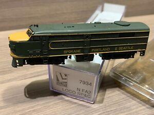 N Scale Life-Like SP&C FA2 Locomotive #7934 Spokane Portland & Seattle