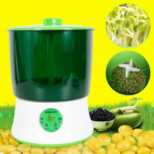 2-Layer 110V 20W Automatic Homemade Multifunctional Bean Seed Sprouts Machine Us