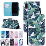 Wallet Card Cute Painted Flip Stand PU Leather Case Cover Fr iPhone XS Max/XR/XS