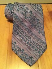 Vintage Light Purple and Blue Wide Necktie With Detailed Pattern