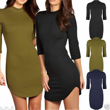 Unbranded Polyester 3/4 Sleeve Textured Dresses for Women