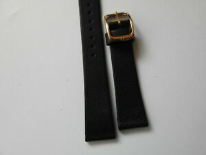 VINTAGE 14mm OMEGA BUCKLE FITTED TO A NON OMEGA 19mm STRAP 7 INCHES LONG