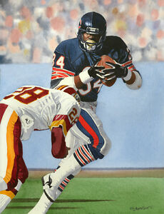 WALTER PAYTON CHICAGO BEARS ART PRINT 2