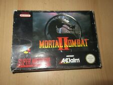 Mortal Kombat II 2 Super Nintendo SNES PAL boxed