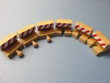 Prellbock-Set 6 tlg. rot weiss für Holzeisenbahn passend zu Brio, Eichhorn usw.