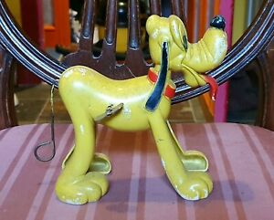 Vintage 1950's British Made Marx Toys Walt Disney Pluto with Whirling Tail & Key
