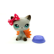 #391 Littlest Pet Shop Cat LPS Short Hair Egyptian Grey Accessories