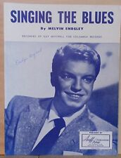 Singing The Blues - 1954 sheet music - Guy Mitchell cover photo