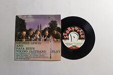 GEORGE LEWIS W/ Papa Bue's Viking Jazz Band 45 Storyvile Rec. SEP-365 VG++ B4