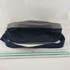 """Extra large Fanny pack Bag 15"""" Blue Gray Shop Hike Tennis Pouch Hunt Waist Hip"""