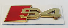 24ct GOLD PLATED AUDI S4 REAR SIDE BOOT BADGE 24K