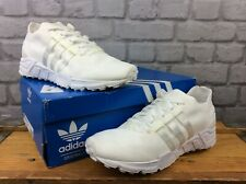 ADIDAS MENS UK 9 EU 43 1/3 WHITE EQT SUPPORT 93 PRIMEKNIT TRAINERS RRP £130
