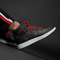 Nike Air Jordan 1 Retro High OG Black Satin Gym Red Men Women AJ1 Shoes Pick 1
