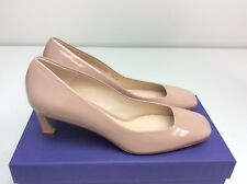 Stuart Weitzman Chelsea Heels 7.5 M Mauve Taupe Gloss Pump square toe dress shoe