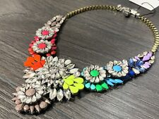 SHOUROUK STYLE Rainbow STATEMENT NECKLACE GEMS/JEWELS /CRYSTALS/BLING
