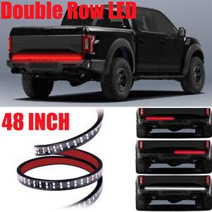"2-ROW 48"" 5-Function LED Strip Tailgate Bar Truck Brake Reverse Signal Light"
