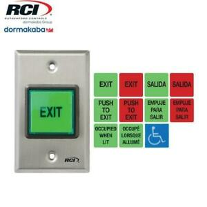 RCI 972-32D All-In-One English - Spanish Illuminated Pushbutton - Momentary