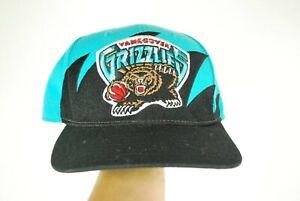 Vintage Vancouver Grizzlies Memphis Sharktooth Snapback Basketball Hat Teal