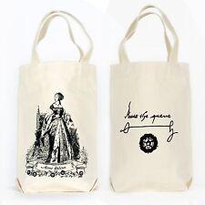 Anne Boleyn Tudors Organic Cotton Two Bottle Wine, Liquor and Growler Tote Bag