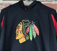 CHICAGO BLACKHAWKS Men's Large PULLOVER HOODIE NHL Big Logo KNIGHTS APPAREL