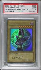2002 Yu-Gi-Oh! Legend of Blue Eyes White Dragon #LOB-005 Dark Magician Card u3f