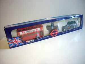 Corgi Toys: London Gift Set, bus & taxi mint in original box, 1990s, made China