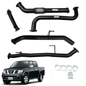 "NISSAN NAVARA D40 2.5L MANUAL 2007 ON 3""INCH FULL EXHAUST NO CAT /PIPE"