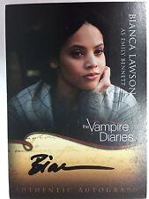 Vampire Diaries Season 1 Cryptozoic Bianca Lawson EMILY BENNETT Autograph A20