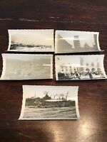 """Lot Of 5 Assorted WW2 Pictures - ORIGINAL PHOTO 3.5"""" X 2.5"""" Stamped 357"""