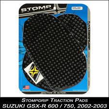Stompgrip TRACTION Pads,SUZUKI GSX-R 600 / 750,02 -03,noir,tampon de réservoir,