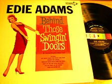 """MONO POP EDIE ADAMS LP - DECCA 34092 - """"BEHIND THOSE SWINGIN' DOORS"""""""